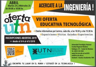 Ingenieros se buscan: la UTN Regional Mendoza expone su oferta educativa