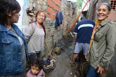 San Fernando ya conectó a las cloacas al barrio La Esperanza