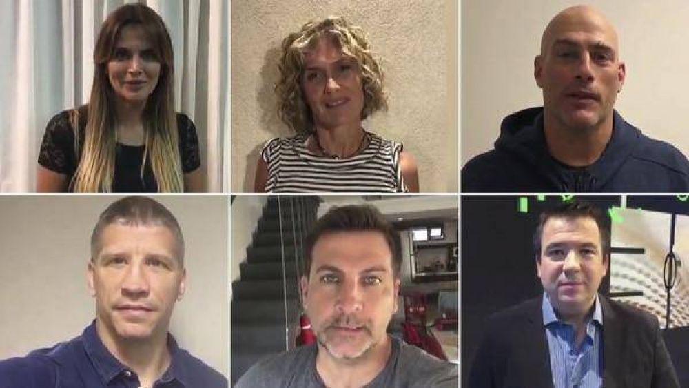 Conductores, periodistas y deportistas grabaron un video en contra del aborto:
