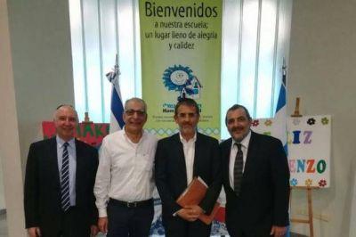 El presidente de la AMIA visitó la escuela Hamakom Sheli