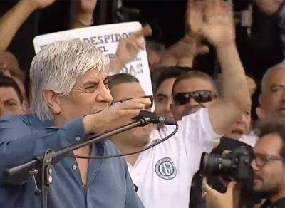 En alerta por denuncias judiciales y OCA, Moyano encabeza acto