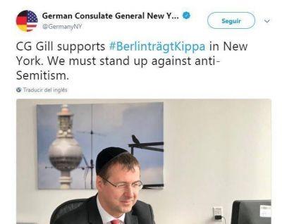 BerlinträgtKippa: el hashtag que se viralizó para apoyar a la comunidad judía alemana