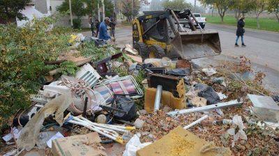 La Muni se llevó 70 toneladas de basura de Sapere