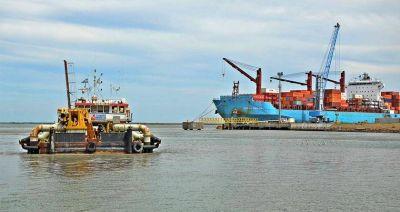 Abren los sobres de licitación de próximas obras de dragado en Puerto Bahía Blanca