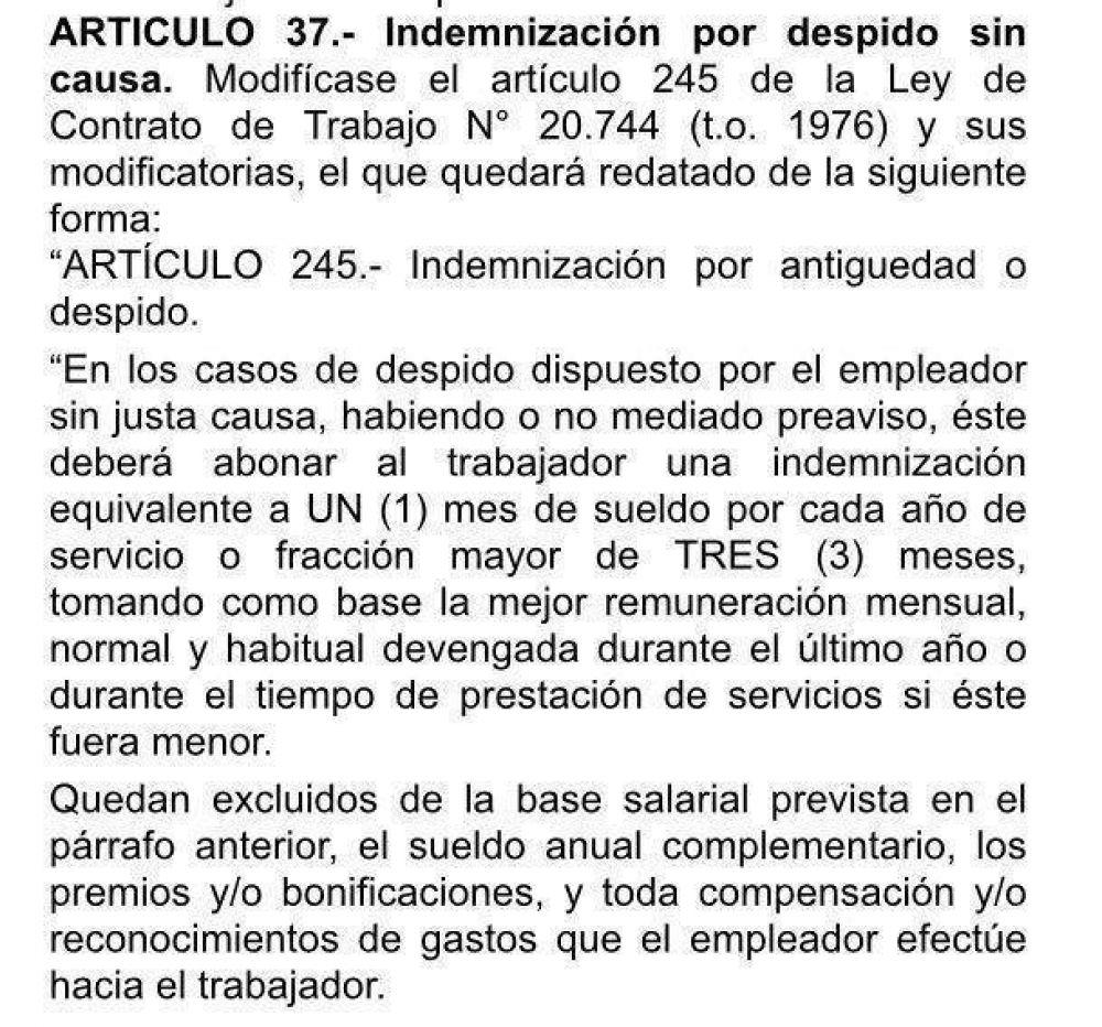 ¿En qué consiste la reforma laboral que Macri envió al Senado?