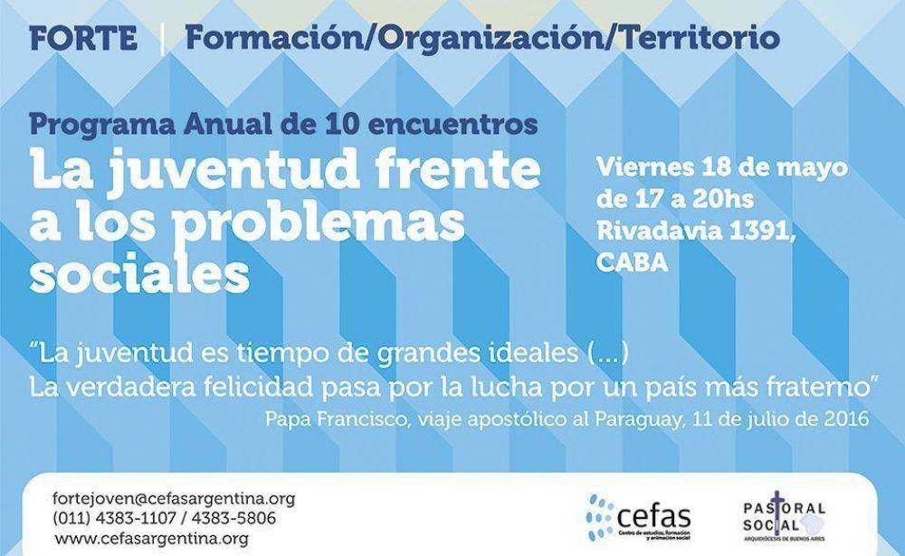 El Cefas y la Pastoral Social lanzan el programa de capacitación FORTE JOVEN