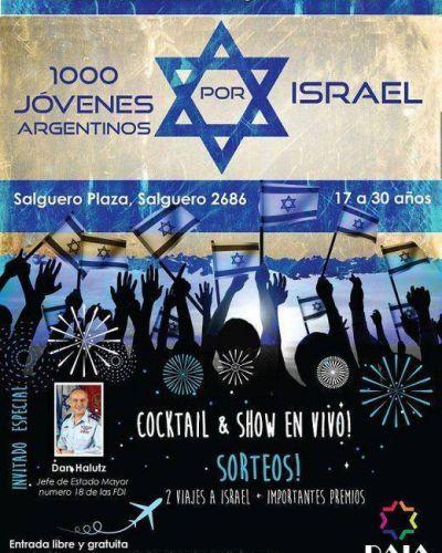 """""""1000 Jóvenes argentinos por Israel"""": una actividad especial que compromete a gran parte de la comunidad de todo el país"""