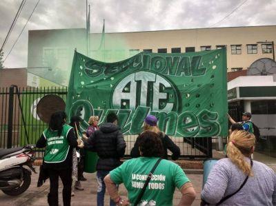 Protesta de ATE en el Municipio de Quilmes por 23 reincorporaciones