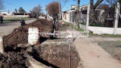 Obras de cloacas para 5000 vecinos en San Cristobal