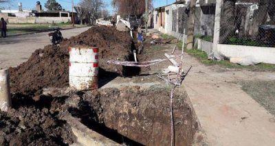 La obra de cloacas en San Cristóbal beneficiará a unos 5.000 vecinos