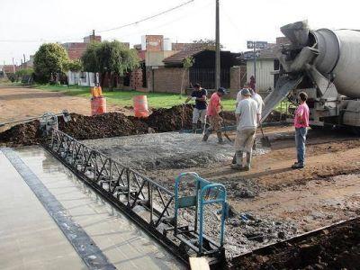 Balcarce: Nuevas cuadras de pavimento cordón cuneta en la ciudad