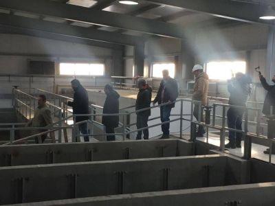 Técnicos de Río Grande explicaron detalles de planta potabilizadora a funcionarios provinciales