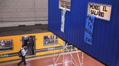 Metrodelegados paralizarán por 12 horas el subte por la suspensión de 70 trabajadores