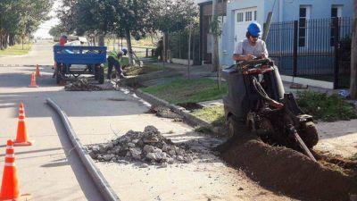 Avanza el recambio de la red de agua potable en barrio SanCor