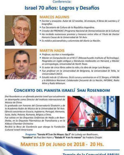 Festejo por el 70 aniversario del Estado de Israel: logros y desafíos