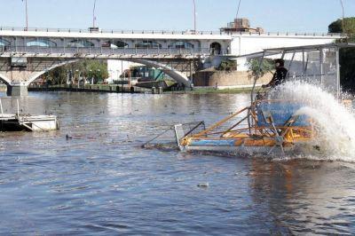 Carlos Paz: Se llenaron cinco camiones con la basura que sacaron del San Roque