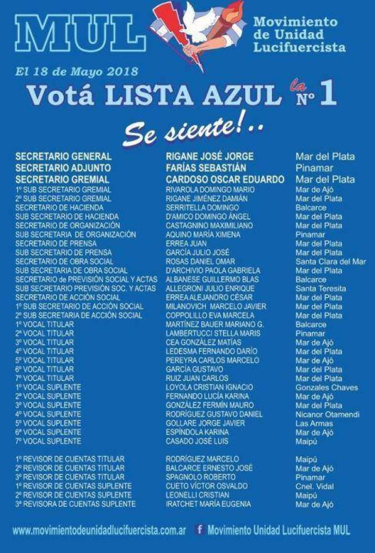 La lista de José Rigane ganó en las elecciones de Luz y Fuerza