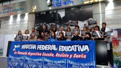 Marcha Federal Docente: Baradel pasará por Necochea y se reunirá con Facundo López