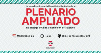 La UCR invita a construir su proyecto político