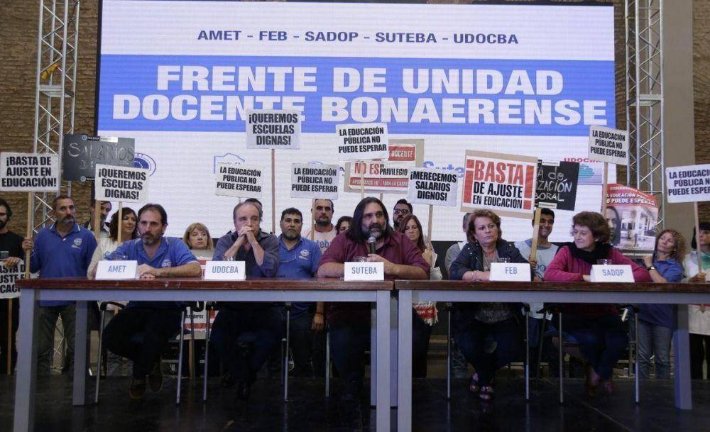 Después de un mes y en medio de un paro, Vidal convoca a los docentes