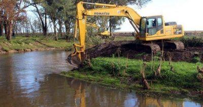 Importante obra hidráulica en arroyo El Moro