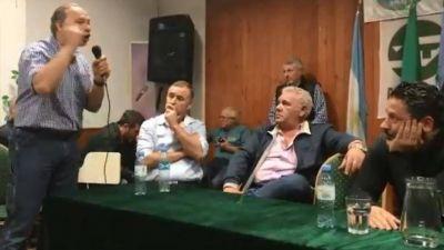 Sergio Berni, furioso y a los gritos con el presidente del PJ bonaerense