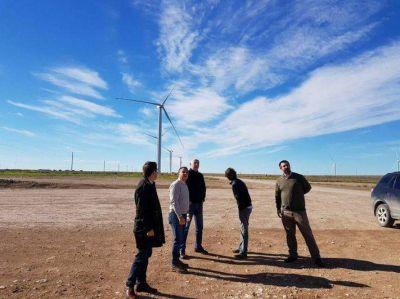 El jefe comunal Di Cesare se reunió con los desarrolladores del 2° Parque Eólico de Gral. Alvarado