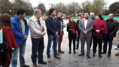 Concejales conformes con el avance de las obras hídricas de Plaza Gurruchaga