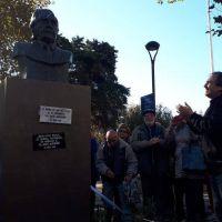 Inauguraron un busto de Raúl Alfonsín en la Plaza San Martín