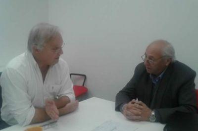 Álvarez se reunió con el Director Provincial de Aguas y Cloacas