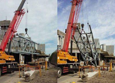 Finalizó la obra de construcción y el montaje de la Torre de Baliza en Puerto Quequén