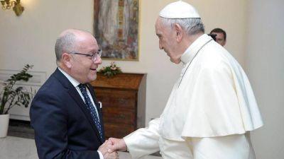 Jorge Faurie fue recibido por el Papa Francisco