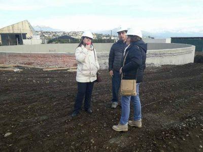 Odarda valoró los avances de la planta de tratamiento cloacal de Bariloche
