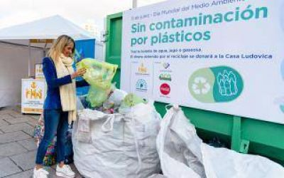 La diputada Carolina Barros Schelotto encabezó una jornada de reciclaje solidario en La Plata
