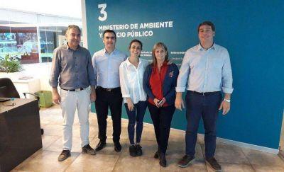 Pagliaroni y Biss buscan trasladar a Chubut experiencias de la Capital Federal en tratamiento y reciclado de residuos