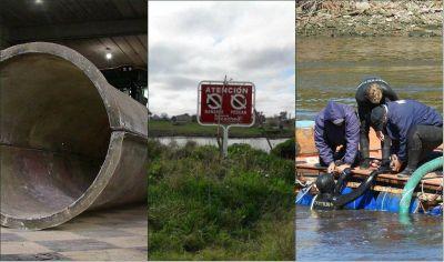 Habrá caño y bombas nuevas para parar el derrame cloacal en Río Quequén