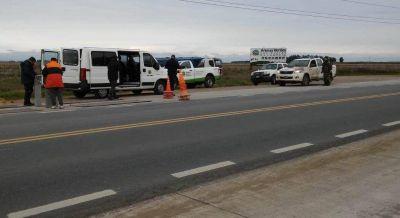 Realizan controles de carga en camiones sobre la ruta 88