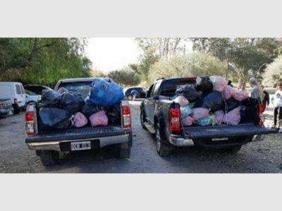 Amantes de la montaña recolectaron 50 kilos de basura de las Sierras Azules