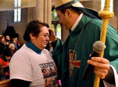 El obispo destacó la lucha de los familiares del Repunte