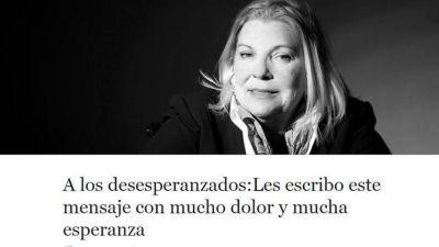 Elisa Carrió criticó a un sector de Cambiemos: