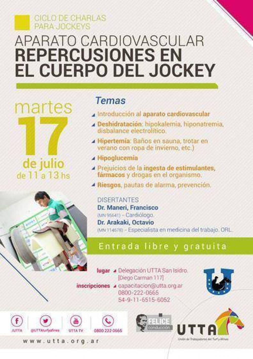 La UTTA organiza una charla sanitaria para jockeys