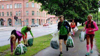 Correr y levantar basura: el plogging llegó a Bahía