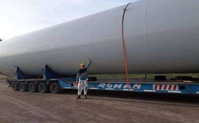 Llegan aerogeneradores al Parque Eólico de Villalonga