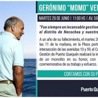 Homenaje del Consorcio de Gestión de Puerto Quequén a Gerónimo Momo Venegas
