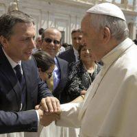 El número 2 del PJ bonaerense tuvo su foto con el Papa