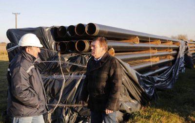 Montenegro supervisó la obra del gasoducto