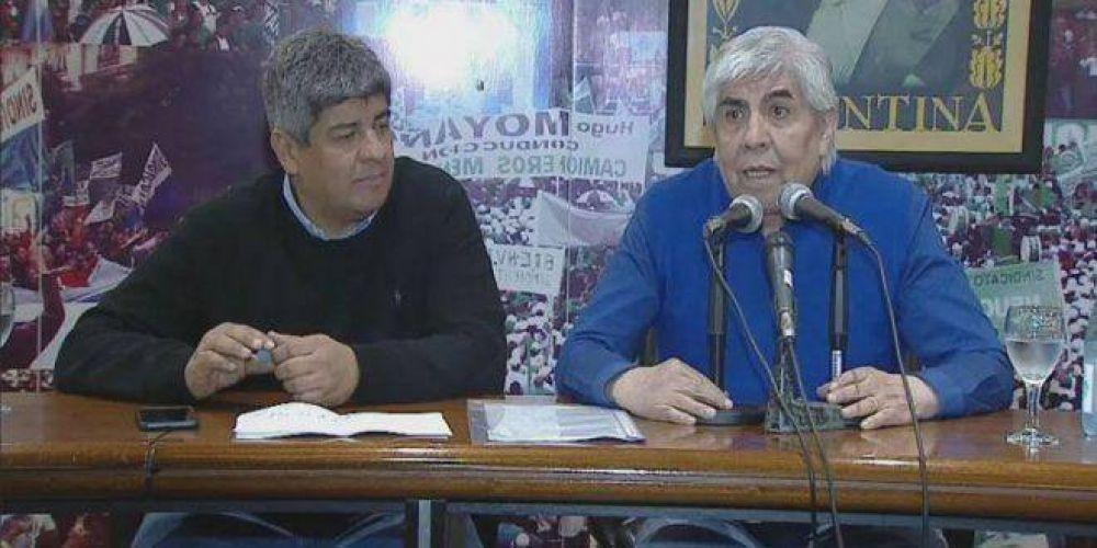 Un Moyano combativo como en los 90, le marcó la cancha a la CGT y dijo que no hay posibilidad de diálogo con el Gobierno
