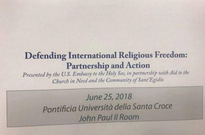 La libertad religiosa es la base de todos los derechos humanos