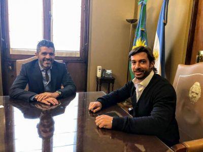 Dominguez Yelpo y Salvai dialogaron sobre estrategias para 2019