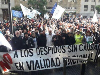 Vialidad: Dirigentes gremiales pidieron por la reincorporación de trabajadores despedidos